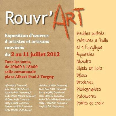 Exposition des artistes et artisans de Rouvroy à Torgny