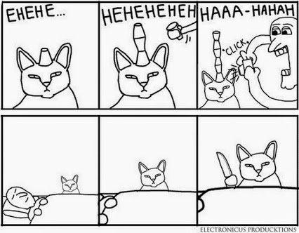 La vengence des chats serat terrible !