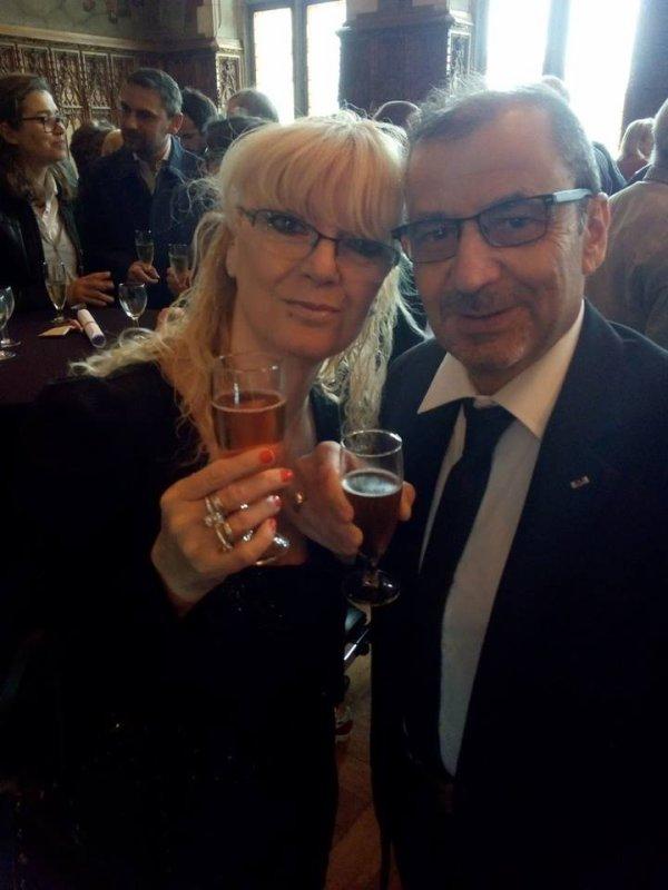 moi et mon homme a sa remise de medaille dor pour ses 35ans de travail