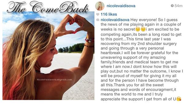 { Article 02 - Le come back de Nicole ! }