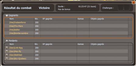 Victoire !!