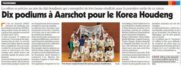 article de presse Aarschot 2 octobre 2011