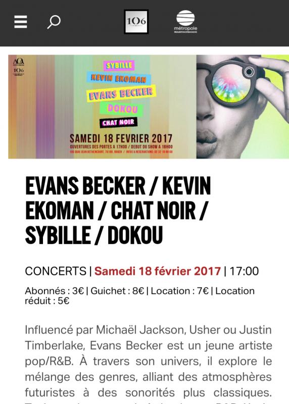 Mon 1er concert au 106 à Rouen ce soir !