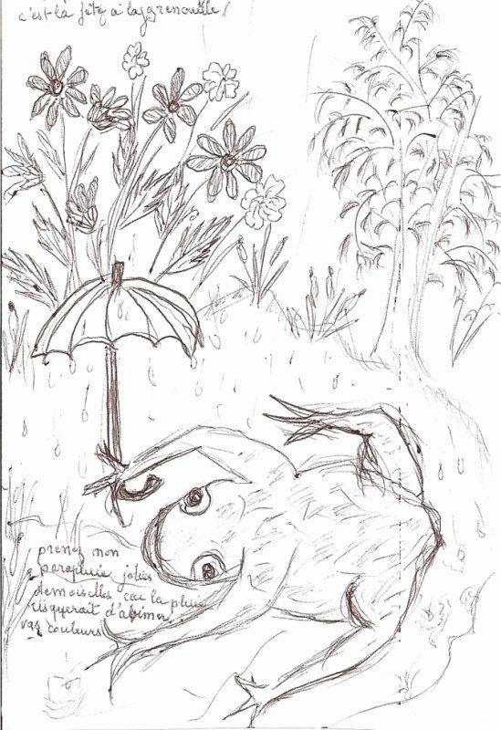 dessin de ma belle-mére 86 ans décédé  le 6 janvier 2011