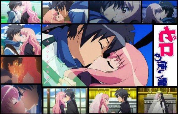 *les kiss de louise et saito dans zero no tsukaima