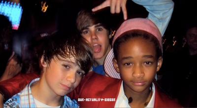 Justin Bieber , Christian Beadles &é Jaden Smith :)