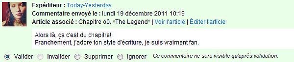 Chapitre o9. *The Legend*