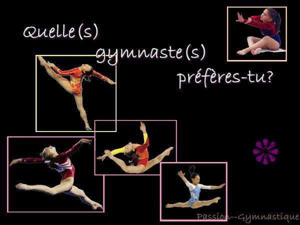 quel est ta gymnaste preferer ?