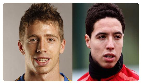 Iker Muniain (Athletic Bilbao) & Samir Nasri (Manchester City)