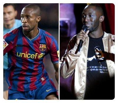 Seydou Keita( Fc Barcelone) & Thomas Ngijol (Humoriste)