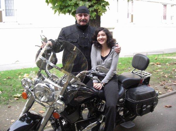 mon  ami Guy avec ma fille Célia