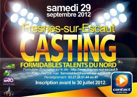 Participe et Sélectionnée au Casting Formidables Talents du Nord sur plus de 200 Candidats Inscrits.....