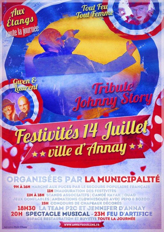 festivités du 14 juillet 2014,,,Annay.....!!!! Avant premiére de Tribute Johnny Story...