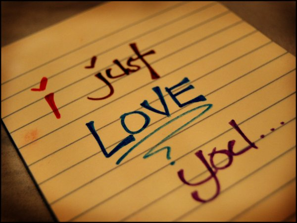 Just love you!