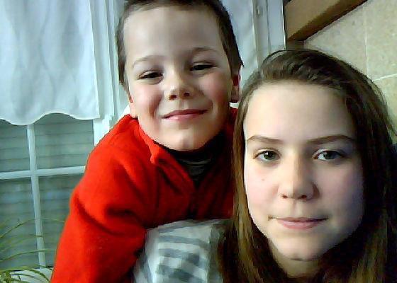 Moi et mon petit frère :$              #Noé#
