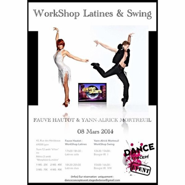 Workshop Latines & Swing à Lyon fait le 8 mars 2014 organisé par Dance Concept Event :