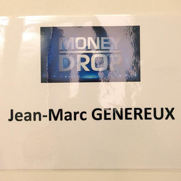 "Emission "" Money Drop "" diffusée le 10 septembre 2015 de 19h à 19h55 sur TF1:"