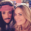 "Maxime Dereymez et Emmanuelle Berne en costume: "" Pirates des Caraïbes ""."