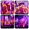"""Photos de Fauve avec la troupe """" Saturday Night Fever """" pendant l'émission: """" La chanson de l'année fête la musique """":"""
