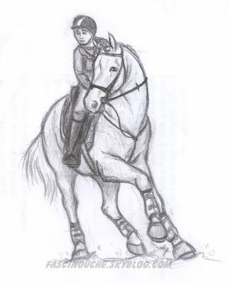 Cavali re concours deux passions r unies le dessin les chevaux - Dessin cavaliere ...