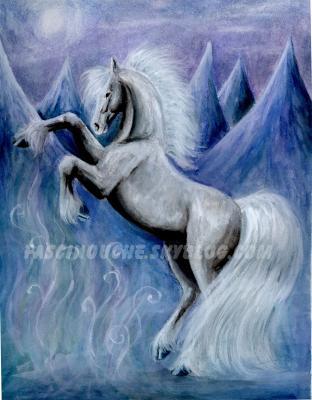 blanc cabr peinture deux passions r unies le dessin les chevaux. Black Bedroom Furniture Sets. Home Design Ideas