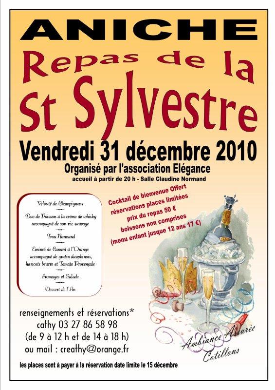 notre prochain rendez-vous - le Repas de la St Sylveste