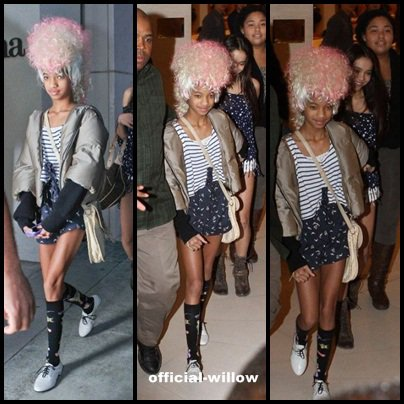 willow smith fait du shooping
