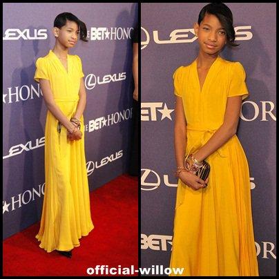 Willow en mode tapis rouge
