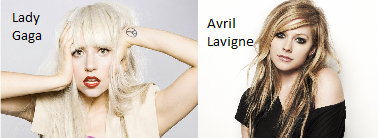 Lady Gaga//Avril Lavigne