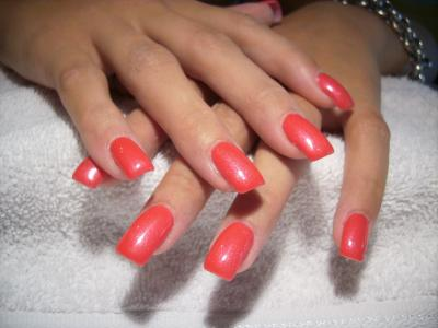 Ongles gel couleur rouge - Couleur ongle gel ...