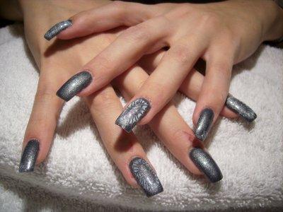 nouveau gris sur ongles pleins onglerie 39 a fleur de peau 39 lausanne suisse. Black Bedroom Furniture Sets. Home Design Ideas