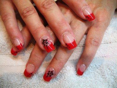 French rouge & fleurs rouge & noir