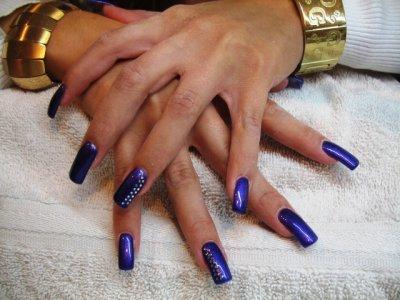 Leati belle longueur plein violet & strass