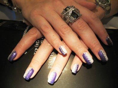 Chrystel plein violet blanc &strass