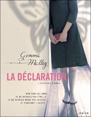 - La déclaration de Gemma Malley ________________ -