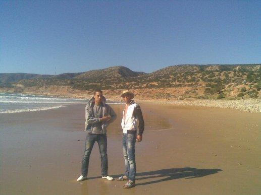 moi et mon ami karim la plage d imswaln