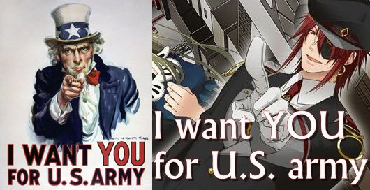 Black wants you ... for U.S. army ! X)