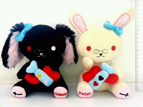 Peluches Peter & Sidney ~
