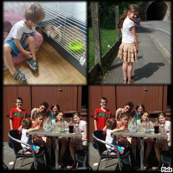 les photos que en a fait avec moi et ma grande soeur Françoise Lopes