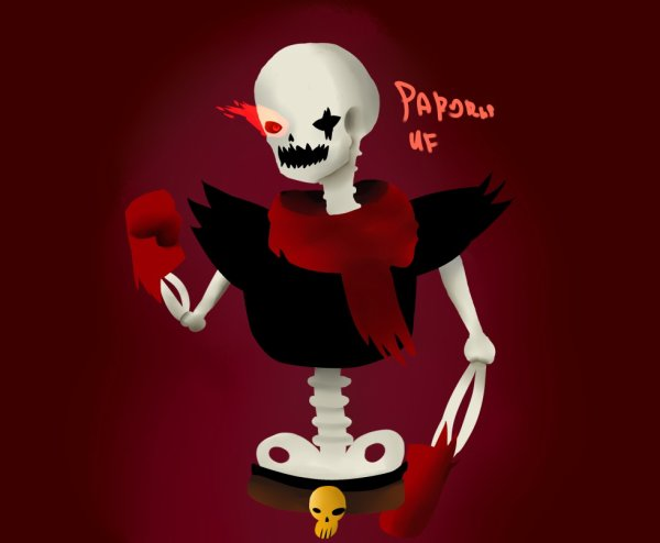 underfell papyrus dessin