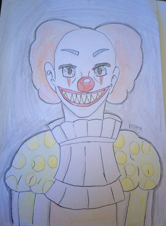 Dessin clown creepy mais pas trop x)