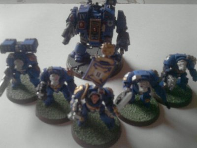 Figurines (Terminators et Dreadnought)