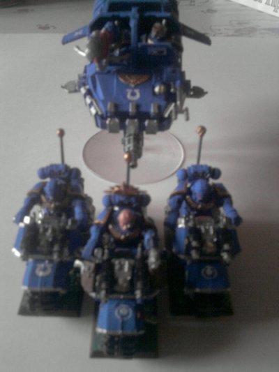 Figurines (Motards et Land Speeder)