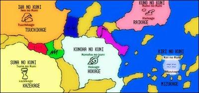 Les différents pays dans Naruto