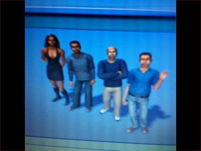 Les membres de l'équipe en Mode Sims !