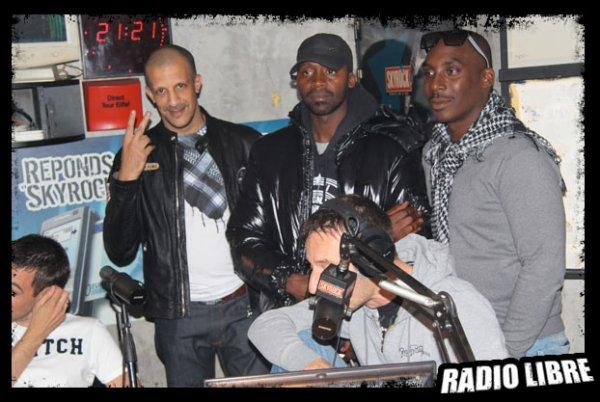 """Le chef de famille """"RIM-K"""" avec A.P et DRY dans la radio Libre"""