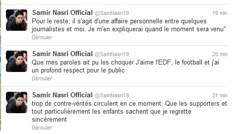 Les excuses de Samir Nasri