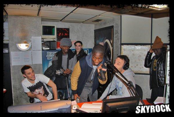 La sexion d'assaut et Stéphane Bak dans la Radio Libre