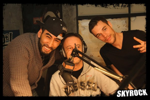 Les photos de La Fouine dans la Radio Libre