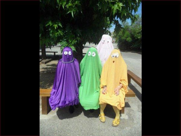 Des idées de costumes pour le carnaval... C'est un peu trash lol